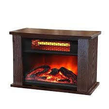 lifesmart tabletop infrared fireplace brown