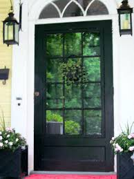 black front door with sidelightsFront Doors  Front Door Painted In A Dulux Colour Match To Farrow