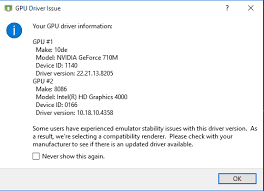 I Issue - Error Gpu Can Stack Android Overflow Solve How Driver Avd