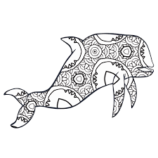 Fox is very smart animal. 30 Free Printable Geometric Animal Coloring Pages The Cottage Market
