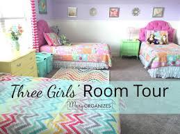 3 Girls' Shared Bedroom {Tour