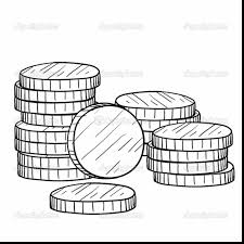 Small Picture remarkable stack of coins drawing with money coloring pages