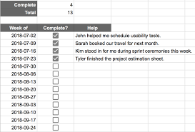 Spreadsheet Tracking A Spreadsheet For Breaking Down Tracking Big Goals