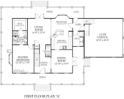 2 Story House Plans With Master Bedroom First Floor • Master