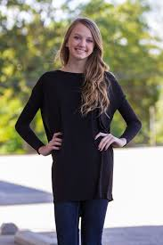 The Perfect Piko Tunic Top Black Products Tunic Tops