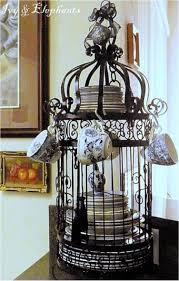 Decorative Cup And Saucer Holders Your Home A Chic Decor By Reusing Your Old Bird Cage In 60 Ways 54