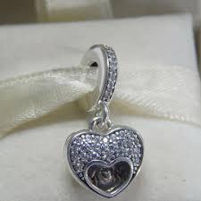 authentic pandora 925 i love my mom locket heart charm pendant 792071cz