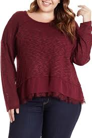 Love On A Hanger Clothing Love On A Hanger Lace Hem Pullover Sweater Plus Size Nordstrom 18