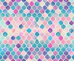 Moroccan Design Rainbow Pastel Watercolor Moroccan Pattern Wallpaper Micklyn