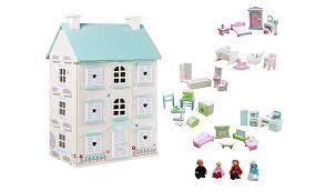 dolls furniture set. George Home Wooden Light-Up Dolls House \u0026 Large Furniture Set   Toys Character