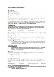 Resume Job History Order Best Of Template Chronological Resumes Templates A Reverse R Resume