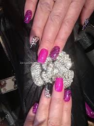 Eye Candy Nails & Training - Acrylic nails with pinky purple and ...