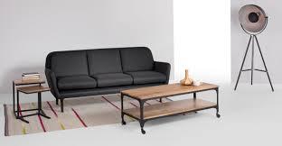 Mango Living Room Furniture Lomond Nest Of Side Tables Mango Wood And Black Madecom