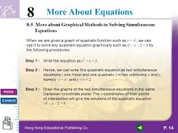 8 5 more about graphical methods in solving simultaneous equations