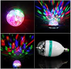 The Range Disco Light Bulb E27 3w Colorful Rotating Stage Rgb Led Light Bulb Bright