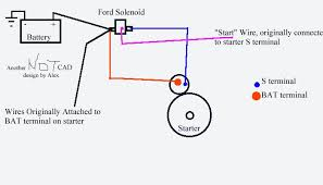 adding a remote starter solenoid to your chevy, my way ford starter solenoid terminals at Ford Starter Solenoid Wiring Diagram