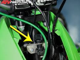 pro mechanic ron wade s kawasaki kfx450r tips tricks quadzone the wires and also decreases the risk of foreign objects and debris coming in contact the wires if something were to get underneath the plastics