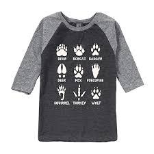 Amazon Com Animal Tracks Youth Raglan Clothing
