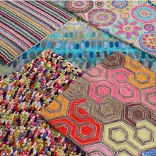area rugs merry go round bright hand hooked wool pink orange area rug