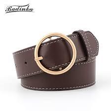 senarai harga baa 2018 new las gold silver round circle belt womens designer wide black genuine leather waist belts for women jeans terkini di