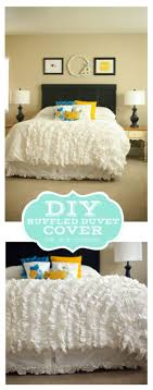 diy duvet covers diy ruffled duvet cover easy sewing projects and no sew ideas