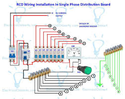 distribution board wiring for single phase throughout diagram Single Phase House Wiring Diagram rcd wiring installation in single phase distribution board within diagram single phase house wiring diagram pdf