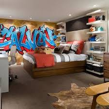 graffiti headboard design ideas