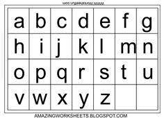 Free Printable Lowercase Alphabet Chart Letter Chart