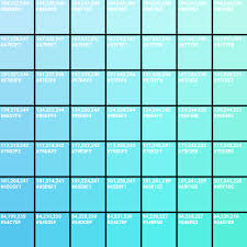 Blue Color Swatch Chart Blog How To Create A Colour Chart