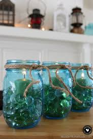 Glass Jar Table Decorations Easy Mason Jar Centerpieces Hoosier Homemade 8
