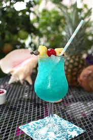 Creative Culinary Cocktail Blue Hawaii