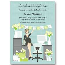 Office Baby Shower Invite Office Baby Shower Invitations Baby Cachet