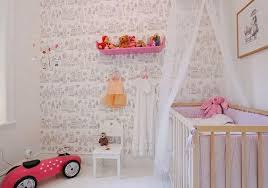 This bright baby nursery is so sweet and modern at the same time. The  monochrome childish wallpaper brings interesting pattern in the interior  and works as ...