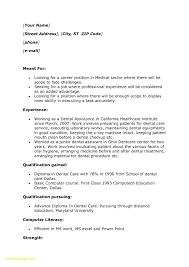 Dental Assistant Job Description Resume New Cover Letter Data