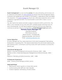 Event Manager Resume Examples Free Resume Example And Writing