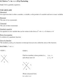 amusing solving quadratic equations by factoring worksheet answers algebra solve quadratics math aids p solve by