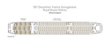 Boeing Dreamliner Seating Chart Seat Map Royal Brunei Airlines