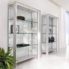 miami modern glass curio glass
