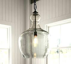 sea glass chandelier oversized recycled pendant pottery barn chande