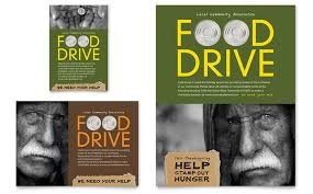 Food Drive Flyers Templates Holiday Food Drive Fundraiser Flyer Ad Template Design