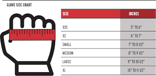 Glove Size 10 Chart Sizing Charts Simpson Racing Products