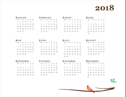 Office Calendar Template 2018 Yearly Calendar Templates Msoffice ...