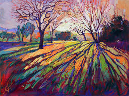 artist erin hanson began to study oil painting when she was only eight years old by the age of ten she had completed her first paid commission
