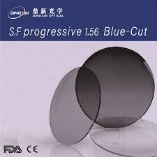 Progressive Lenses Blue Light Hot Item Semi Finished 1 56 Blue Light Cutting Uv420 Uv Progressive Optical Lens