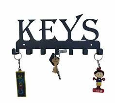 keys black metal wall mounted key