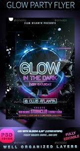 glow flyer glow party flyer party flyer flyer template and event flyer templates