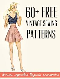 Free Sewing Patterns Online Enchanting Free Vintage Patterns VaVoom Vintage Vintage Fashion Hair