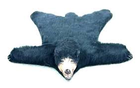 faux bear skin rug with head to enlarge polar skins furs rugs fake faux bear skin rug with head