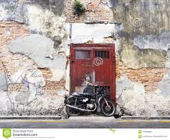 download comp on famous wall art in penang with wall mural street art penang editorial stock photo image of