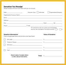 New Tax Receipt For Donation Template Professional Best